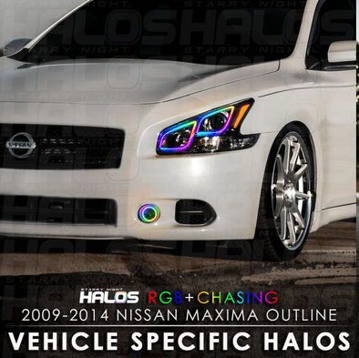 2009-2014 Nissan Maxima Outline RGB Chasing Halos