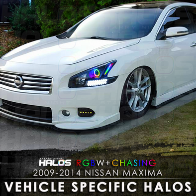 2009-2014 Nissan Maxima Projector RGBW Chasing Starry Night Halo Kit