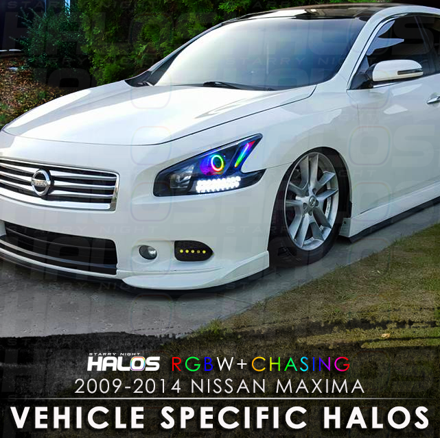 2009-2014 Nissan Maxima Projector RGBW + Chasing Starry Night Halo ...