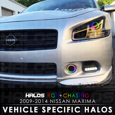 2009-2014 Nissan Maxima Projector RGB Chasing Starry Night Halo Kit