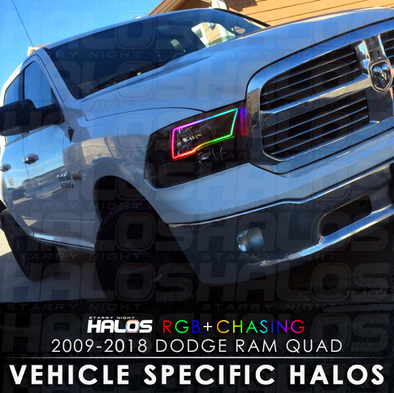 2009-2018 Dodge Ram Quad RGB Chasing Starry Night Halo Kit