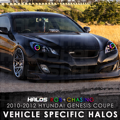 2010-2012 Hyundai Genesis Coupe RGB Chasing Starry Night Halo Kit
