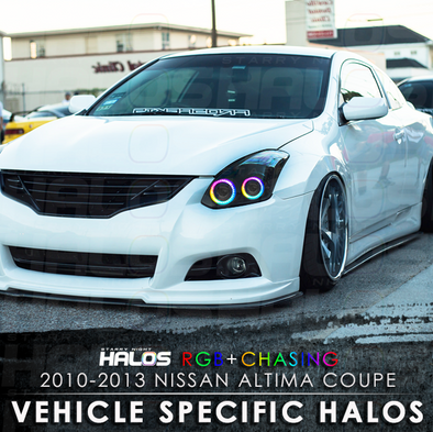 2010 2013 Nissan Altima Coupe RGB Chasing Starry Night Halo Kit