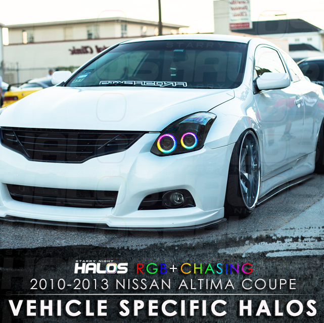 2010-2013 nissan altima coupe rgb+chasing starry night halo kit (4