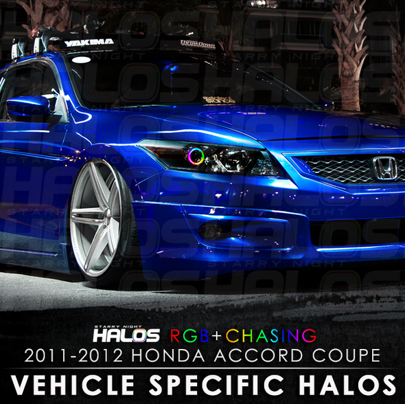 2011-2012 Honda Accord Coupe RGB Chasing Starry Night Halo Kit