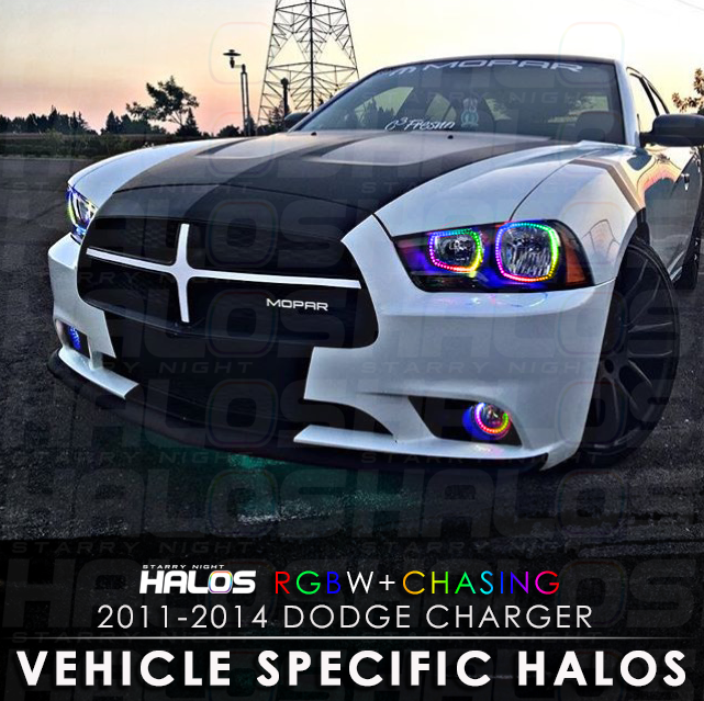 2011-2014 Dodge Charger RGBW + Chasing Starry Night Halo