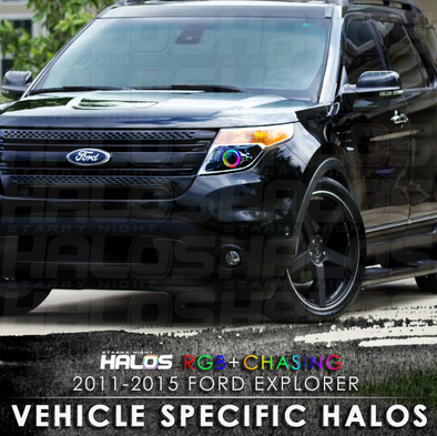 2011-2015 Ford Explorer RGB Chasing Starry Night Halo Kit