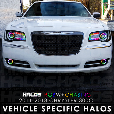 2011-2018 Chrysler 300c RGBW Chasing Starry Night Halo Kit