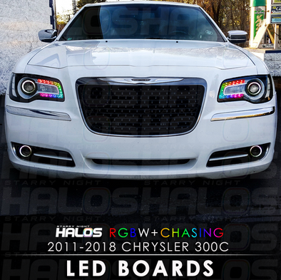 2011-2018 Chrysler 300c RGBW Chasing Starry Night Halos LED Boards