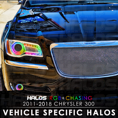 2011-2018 Chrysler 300 RGB Chasing Starry Night Halo Kit