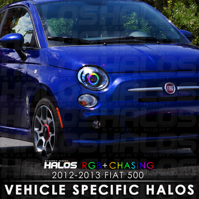 2012-2013 Fiat 500c RGB Chasing Starry Night Halo Kit