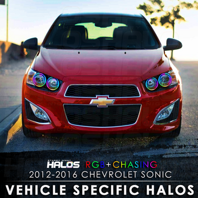 2012-2016 Chevrolet Sonic RGB+Chasing Starry Night Halo Kit