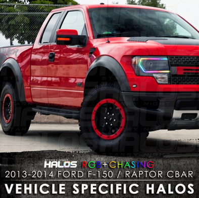 2013-2014 Ford F-150 Raptor CBAR RGB + Chasing Starry Night Halo Kit