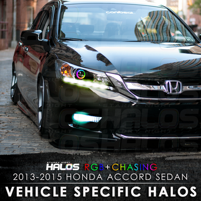 2013-2015 Honda Accord Sedan RGB Chasing Starry Night Halo Kit