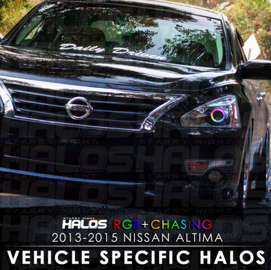 2013-2015 Nissan Altima RGB+Chasing Starry Night Halo Kit (Pair)ˑ