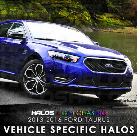 2013-2016 Ford Taurus RGB + Chasing Starry Night Halo Kit (Pair)