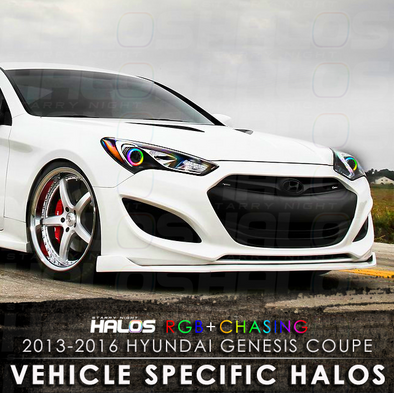 2013-2016 Hyundai Genesis Coupe RGB Chasing Starry Night Halo Kit