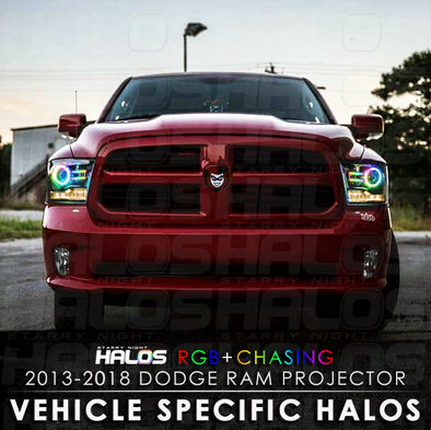 2013-2018 Dodge Ram Projector RGB Chasing Starry Night Halos