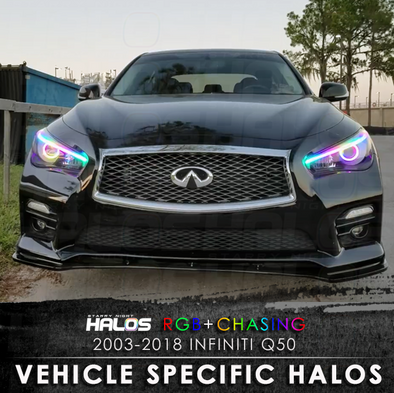 2013-2018 Infiniti Q50 RGB Chasing Starry Night Halos