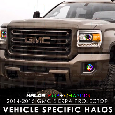 2014-2015 GMC Sierra Projector RGB Chasing Starry Night Halo Kit