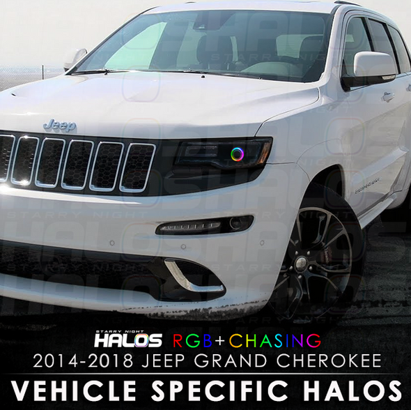 2014-2018 Jeep Grand Cherokee RGB Chasing Starry Night Halo Kit