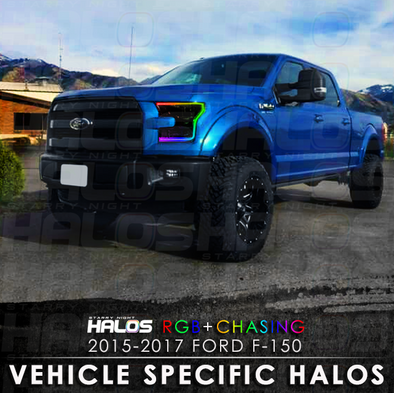 2015-2017 Ford F-150 Outline RGB Chasing Starry Night Halo Kit