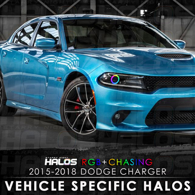 2015-2018 Dodge Charger Projector RGB Chasing Starry Night Halo Kit