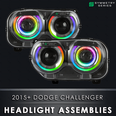 2015-2019 Dodge Challenger Starry Night Halos Chasing Pre-Built Headlights