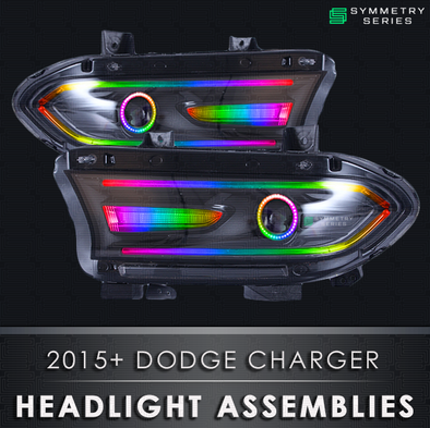 2015+ Dodge Charger Starry Night Halos Chasing Pre-Built Headlights