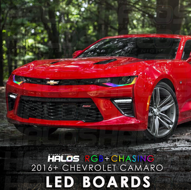 2016+ Chevrolet Camaro RGB Chasing Starry Night Halos LED Boards