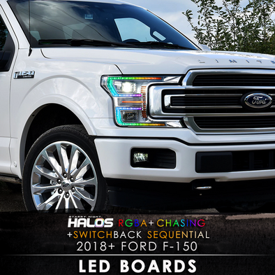 2018 Ford F-150 RGBA Chasing Switchback Sequential Starry Night LED Boards