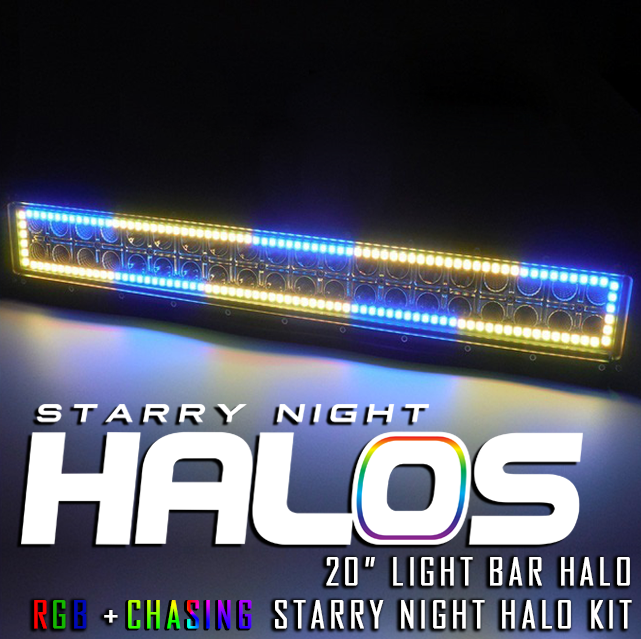Starry night halos rgb chasing 20 led light bar halo aloadofball Image collections