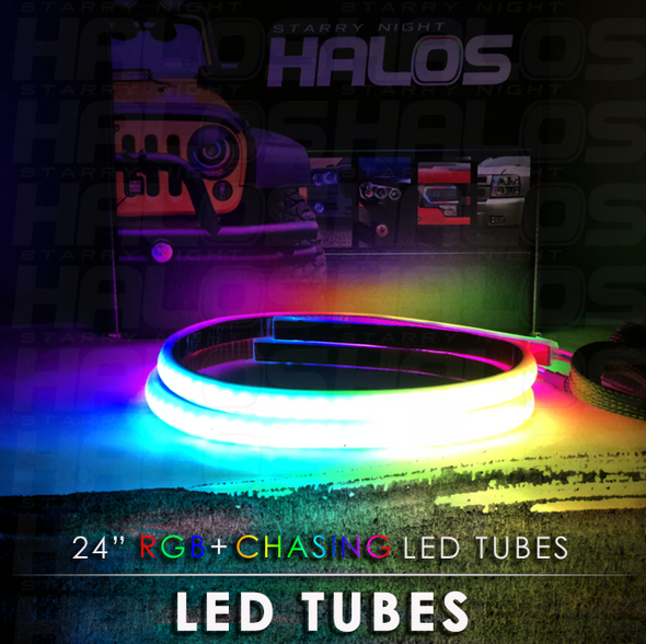 24 Inch Starry Night RGB Chasing LED Tubes