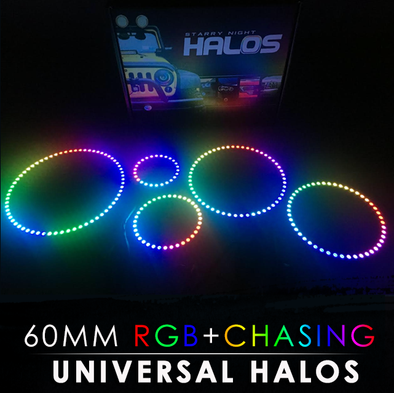 60MM Black PCB RGB Chasing Starry Night Halos