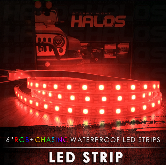 6 inch waterproof starry night rgbchasing led strips pair 6 inch waterproof starry night rgbchasing led strips pair aloadofball Images