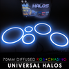 70MM Diffused RGB + Chasing Starry Night Halos (Pair)