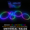 80MM Black PCB RGBA + Chasing + Switchback Sequential Starry Night Halos (Pair)