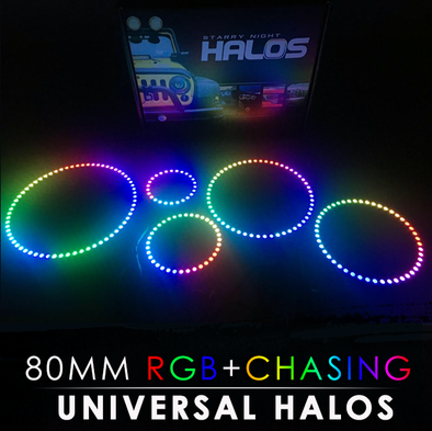 80MM Black PCB RGB Chasing Starry Night Halos