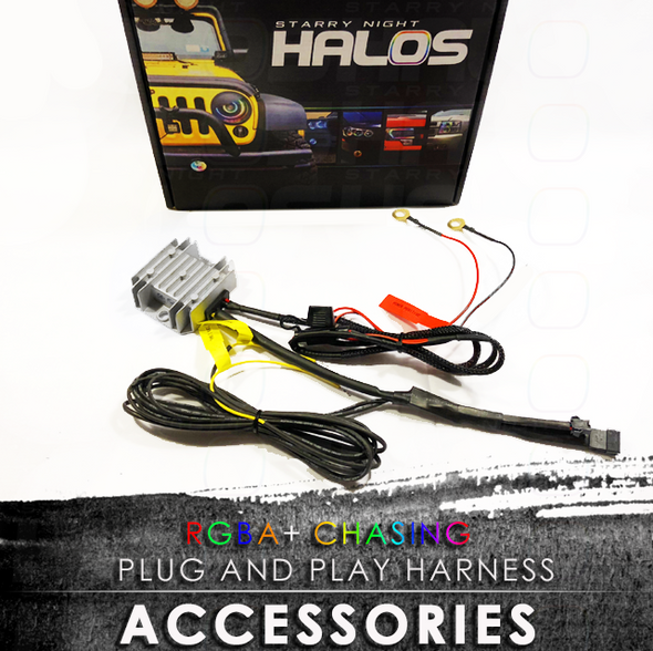 Starry Night Halos RGBA Chasing Plug and Play Harness