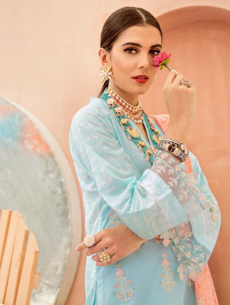 Summer Chic Lawn Dresses | Unstitched 3 PCs Collection 2020 | KHAS