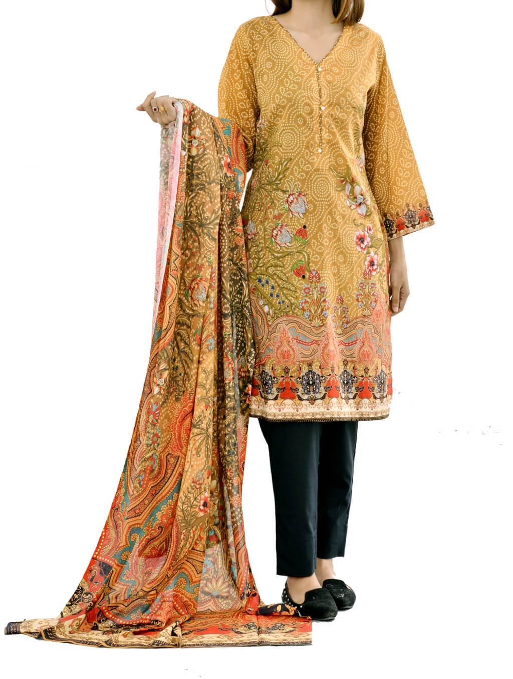 2 PCS SHIRT & DUPATTA DKL-4025 2 Piece Lawn Collection FASSTILAD