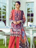 3 Piece Unstitched Embroidered Lawn Suit with Chiffon Dupatta KC-5096