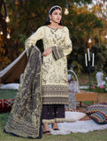 3 Piece Unstitched Embroidered Lawn Suit with Cotton Net Dupatta KCNE-1040