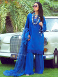 3 Piece Unstitched Embroidered Lawn Suit with Net Dupatta KNE-7016