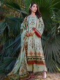 3 Piece Unstitched Embroidered Lawn Suit with Silk Dupatta KSE-1033