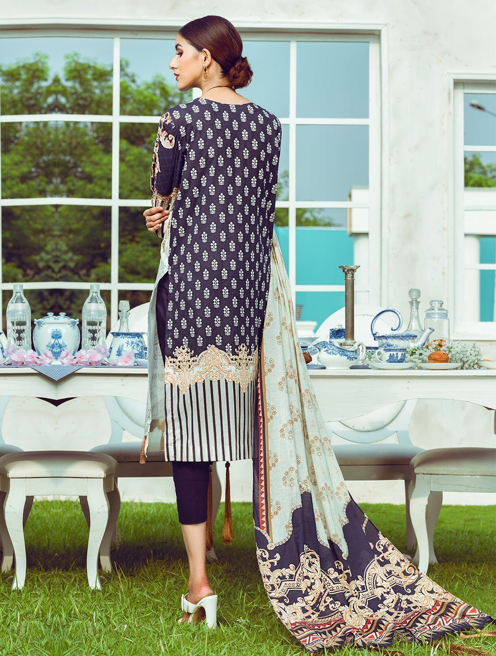 3 Piece Unstitched Printed Lawn Suit KL-4125 Khas Lawn 2021 - Volume 1 FASUNSLAD
