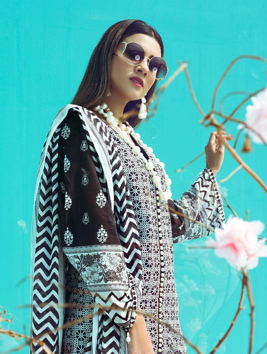 3 Piece Unstitched Printed Lawn Suit KLA-9093 Khas Lawn 2021 - Volume 1 FASUNSLAD