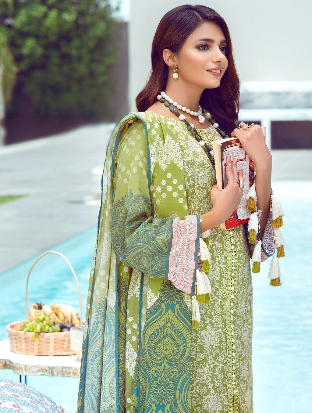 3 Piece Unstitched Printed Lawn Suit KLA-9096 Khas Lawn 2021 - Volume 1 FASUNSLAD