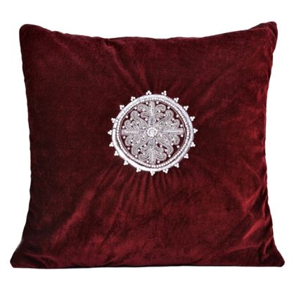 AKC-02 Embroidered Cushion Filled Cushion HOMBEDACC