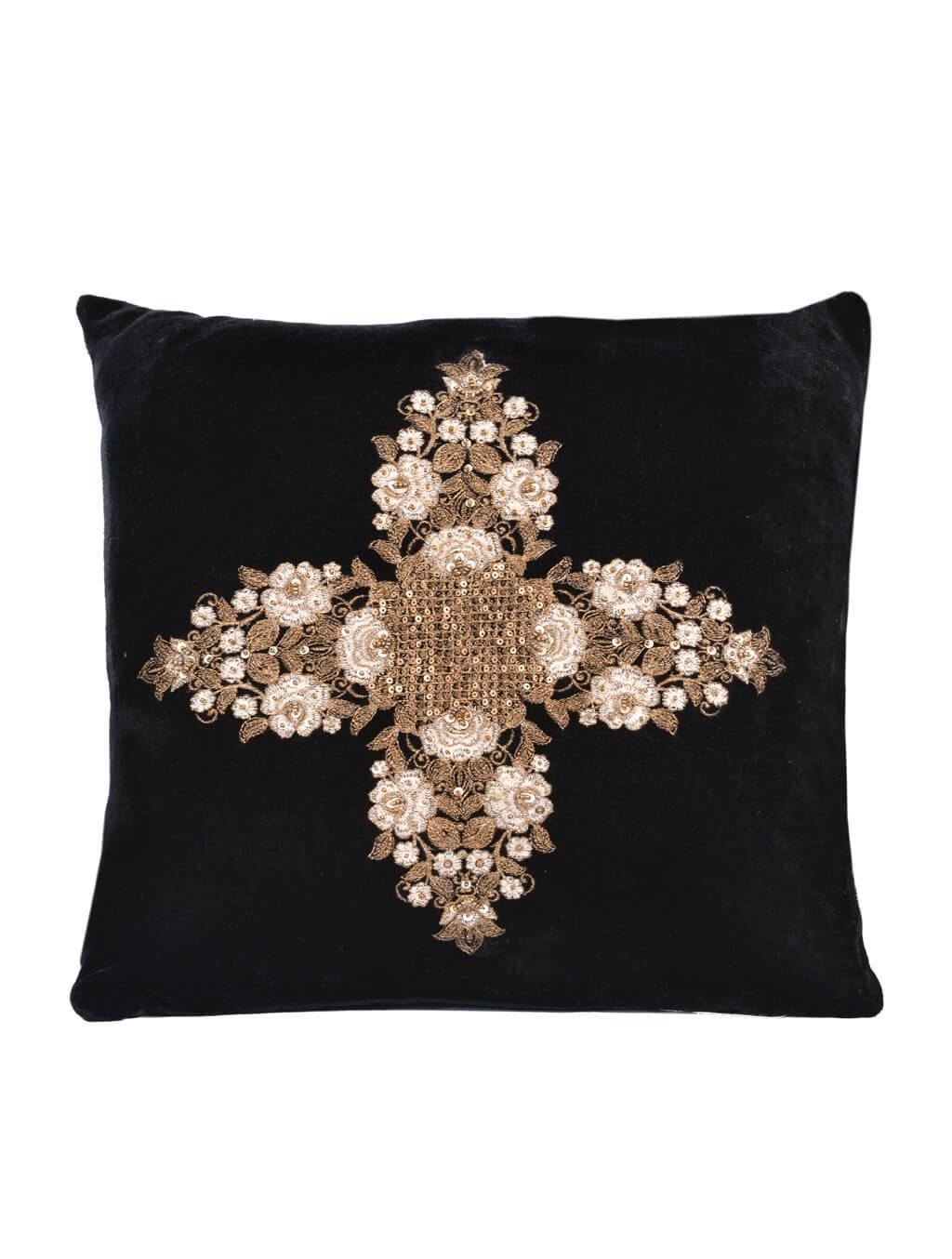 AKC-08 Embroidered Cushion Filled Cushion HOMBEDACC
